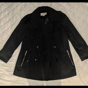 Michael Kors black trench coat jacket